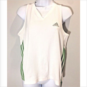 Adidas Womens M White Climalite Vented Tank Top